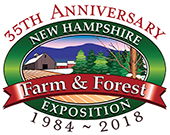 new hampshire farm and forest 35th anniversary logo